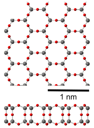 2D silica structure