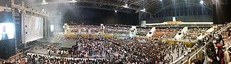 Phú Thọ Indoor Stadium - Inside Phu Tho Indoor Sport Stadium during 2NE1 Galaxy Stage