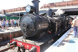 Hunter Valley Steamfest - 3016 at Maitland in April 2017
