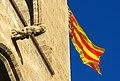 364 Torres dels Serrans (València), gàrgola i senyera.jpg
