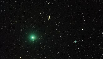41P/Tuttle–Giacobini–Kresák - Comet 41P/Tuttle–Giacobini–Kresák on 2017, 3 March near the galaxy Messier 108 and Owl Nebula.