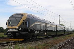 Stadler FLIRT - Stadler FLIRT of Czech private rail operator Leo Express on the test circuit in Cerhenice, the Czech Republic