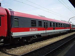 Română: Vagon clasa Business.