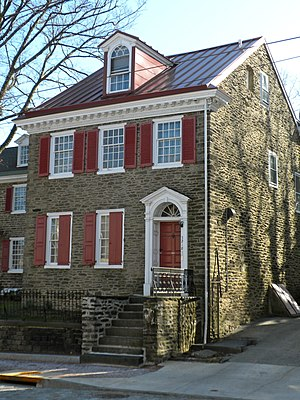 English: Howell House, in Germantown, Philadel...