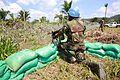 5 décembre 2014. Eringeti, Nord-Kivu, RD Congo. Des casques bleus montent la garde dans le camp MONUSCO. (16746828476).jpg