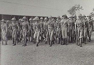 61st Battalion (Australia) - Image: 61st Battalion at Redbank 1940