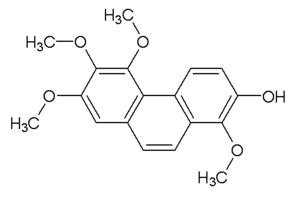 7-Hydroxy-2,3,4,8-tetramethoxyphenanthrene - Image: 7 Hydroxy 2,3,4,8 tetramethoxyphenanth rene