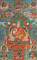 7th Dalai Lama of Tibet in 18th century thangka art detail, from- Le VIIème Dalaï lama (1708-1757) (cropped).jpg