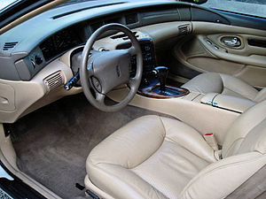 Lincoln Mark VIII - Interior of a 1998 Mark VIII, other model years are similar