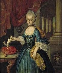 Portret van Anna Elisabeth Chasteleijn (1741-1773)