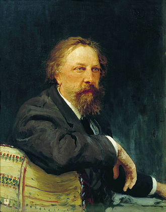 Aleksey Konstantinovich Tolstoy - Tolstoy in his later years. Portrait by Ilya Repin, 1896.