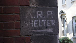 Leeds Blitz - Image: A.R.P. shelter... A blast from the past at the University of Leeds (11th July 2012)