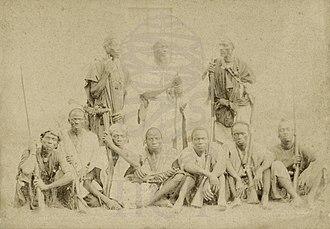 Biafada people - Photo of a Biafada tribe. December 1891.