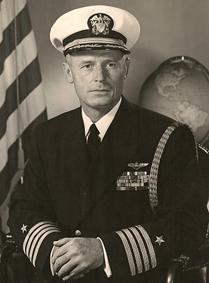 William F. Bringle - Official portrait of ADM William F. Bringle, commander of USS Kitty Hawk
