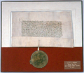 AGAD Safe conduct issued by Władysław II Jagiełło to Sigismund, Holy Roman Emperor.png