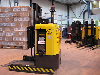 Automated guided vehicle - AGV can be small and used for maneuvering in small spaces.