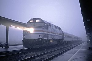 Capitol Corridor - A Capitols train at Sacramento in 1995