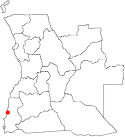 Location of Namibe in Angola