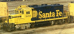 EMD GP20 - ATSF 3055 in San Bernardino, California