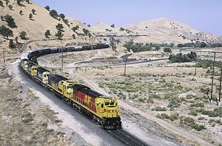 Freight train outside Caliente, CA