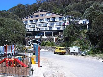 Falls Creek, Victoria - Falls Creek Hotel in summer (January)