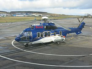 Babcock Mission Critical Services Offshore - Bond Offshore EC225 at Aberdeen airport