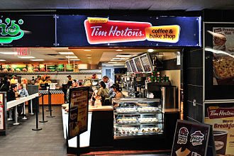 Tim Hortons - A Tim Hortons store at Penn Station in New York City in 2010.