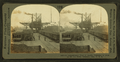 A comprehensive view of smaller uploaders at work on the oar docks, Conneaut, Ohio, by Keystone View Company.png