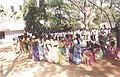 A long queue of voters in front of a polling station of Chittoor Parliamentary Constituency of Andhra Pradesh during General Election 2004 on April 26, 2004.jpg