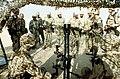 A member of the 1st Battalion, 325th Airborne Infantry Regiment, explains the M252 81mm mortar to Saudi Arabian national guardsmen.JPEG