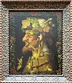 A painting By Giuseppe Arcimboldo , a 16th century Italian painter best known for his imaginative portraits of people using only vegetables. (11606539403).jpg