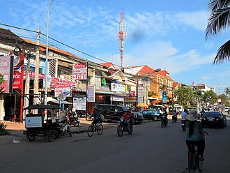 Siem Reap - A part of Sivutha Blvd in the downtown area