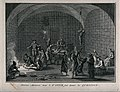 A torture chamber of the Spanish Inquisition with with suspe Wellcome V0041643.jpg