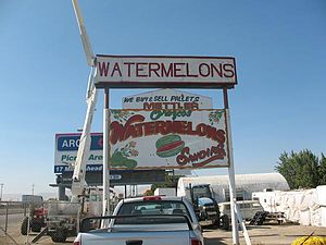 Mettler, California - A watermelon stand in Mettler