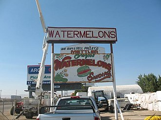 Mettler, California - A watermelon stand in Mettler