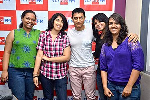BIG FM 92.7 - Aamir Khan at 92.7 BIG FM studio to promote Satyamev Jayate, 2012
