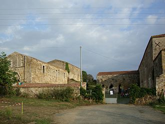 Bournezeau - The Abbey of Trizay, in Bournezeau