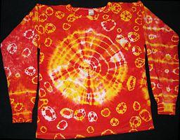 Abbindebatik-Sweatshirt-zweifarbig