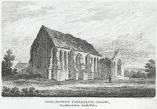 Aber Honddu collegiate chapel: Brecknockshire, south Wales