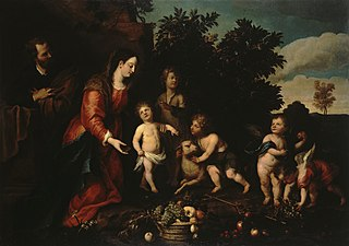 Holy Family with the Infant John and Angels