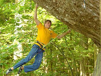 Notable first ascents (sport climbing) - Alex Megos climbing Action Directe in Frankenjura (DEU), 2014