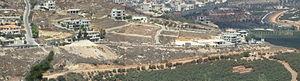 2010 Israel–Lebanon border clash - Village of Adaisseh in Lebanon,  as seen from Misgav Am, Israel