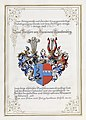 Adelsdiplom - Garainow-Trauttenberg 1907 - Wappen.jpg