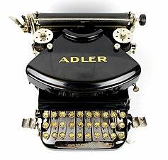 Adler typewriter with double, Cyrillic-Latinic keyboard 01