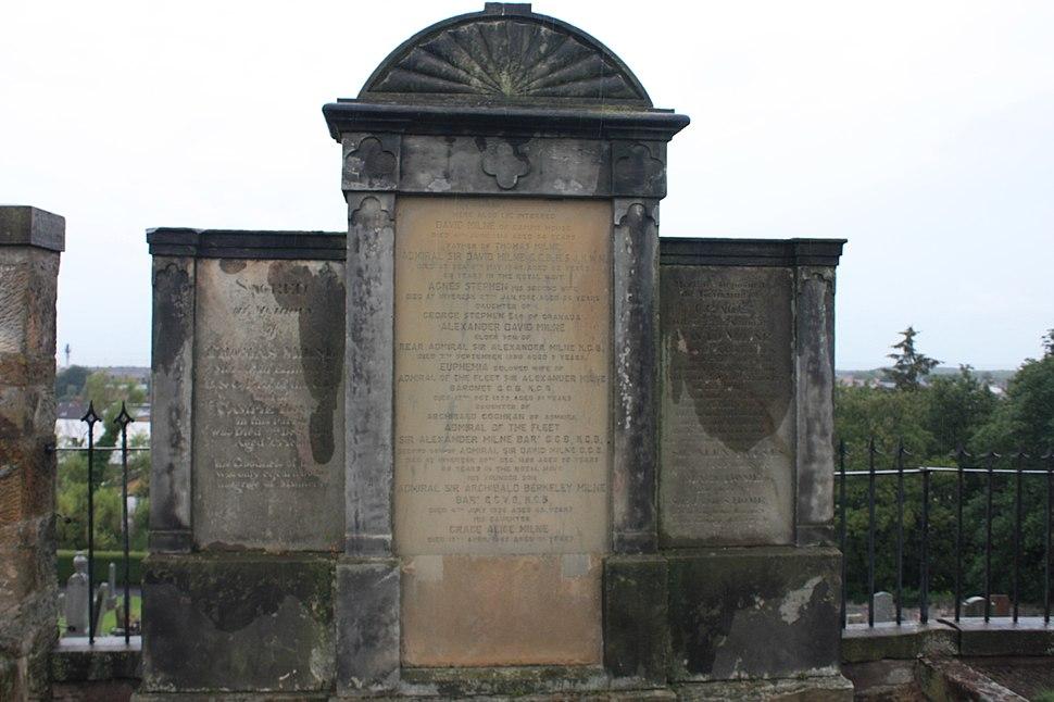 Admiral Milne's family grave, Inveresk