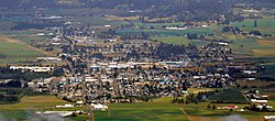 Aerial view of Tillamook