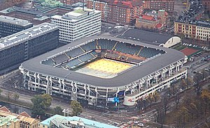 Gamla Ullevi - Image: Aerial photo of Gamla Ullevi Gothenburg 2013 10 27