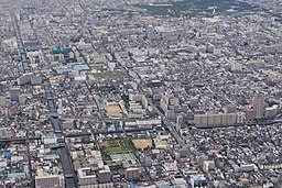 Aerial photo of Hanaten, Osaka 14-Aug-2019.jpg