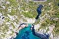 Aerial view of Stiniva Bay on Vis island in Croatia (48608287593).jpg