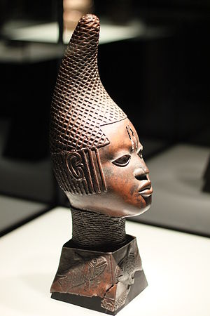 Benin art - Bronze Head of Queen Idia